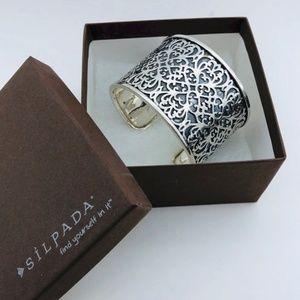 Silpada 925 Sterling Silver Wide Cuff Bracelet